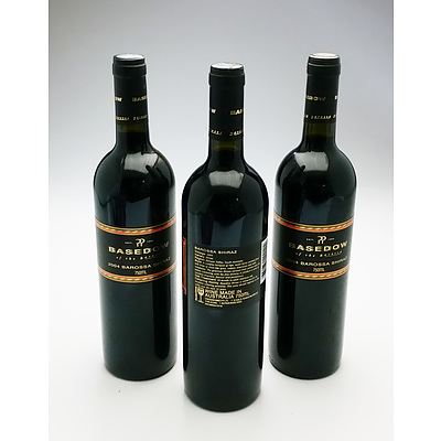 Basedow 2004 Barossa Shiraz - Lot of Three Bottles (3)
