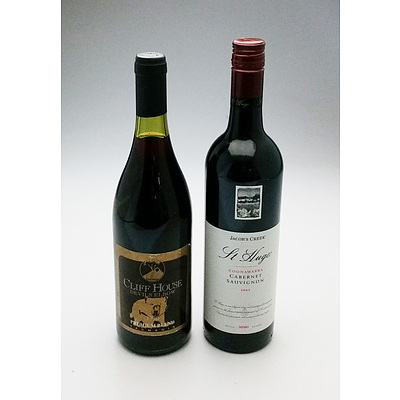 Jacobs Creek St Hugo 2005 Cabernet Sauvignon and Cliff house Devils Elbow 1996 Premium Blend (2)