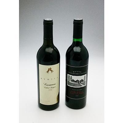 Wynns Coonawarra 1997 Cabernet Sauvignon and Rymill 1996 Cabernet Sauvignon (2)