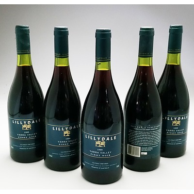 Lillydale Yarra Valley 1999 Pinot Noir - Lot of Five Bottles (5)