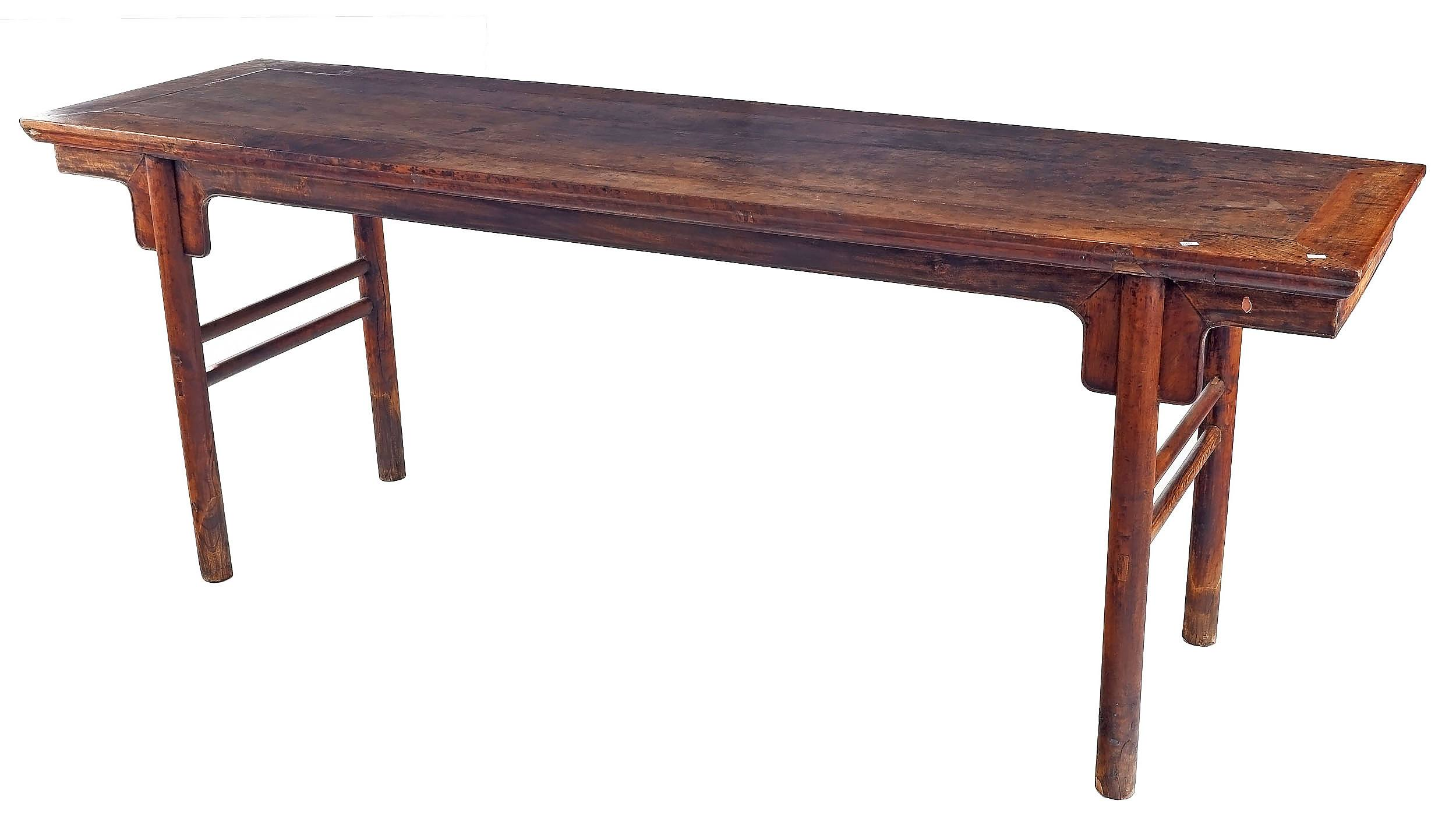 'Antique Chinese Nanmu Wood Recessed Leg Painting Table, Late Ming/Early Qing Dynasty 17th-18th Century'