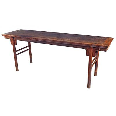 Antique Chinese Nanmu Wood Recessed Leg Painting Table, Late Ming/Early Qing Dynasty 17th-18th Century
