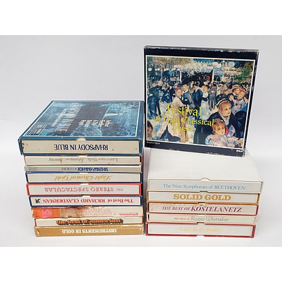 Quantity of 15 Boxed Vynil LP Record Sets Including The Best of Johnny Mathis, The Best of Roger Whittaker and More