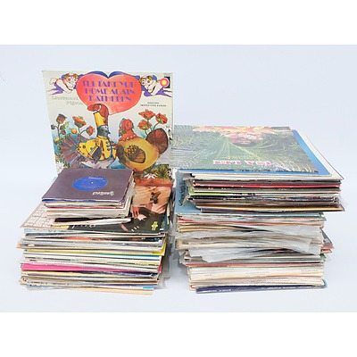 Quantity of Approximately 70 Vinyl LP Records and 10 Vinyl Singles Including Neil Diamond,  Sergio Mende