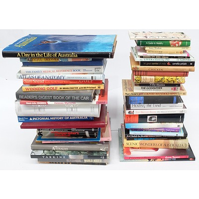 Quantity of Approximatley 40 Books Including Cookery, Golf, Photography and More