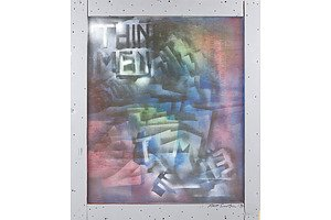 Pete Smith (1960-2014) Abstract Spray Paint 1994 Mixed Media on Board