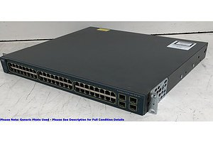 Cisco Catalyst (WS-C3560G-48PS-S V08) 3560G Series PoE-48 48-Port Gigabit Managed Switch