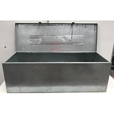 Large Galvanized Metal Storage Box