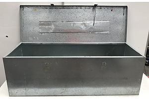 Large Galvanized Metal Storage Box