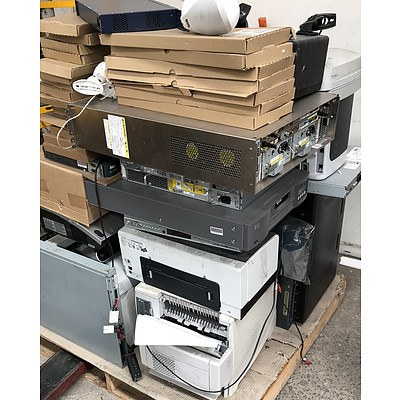Bulk Lot of Assorted IT Equipment - Projectors, Speakers, UPS & Printers