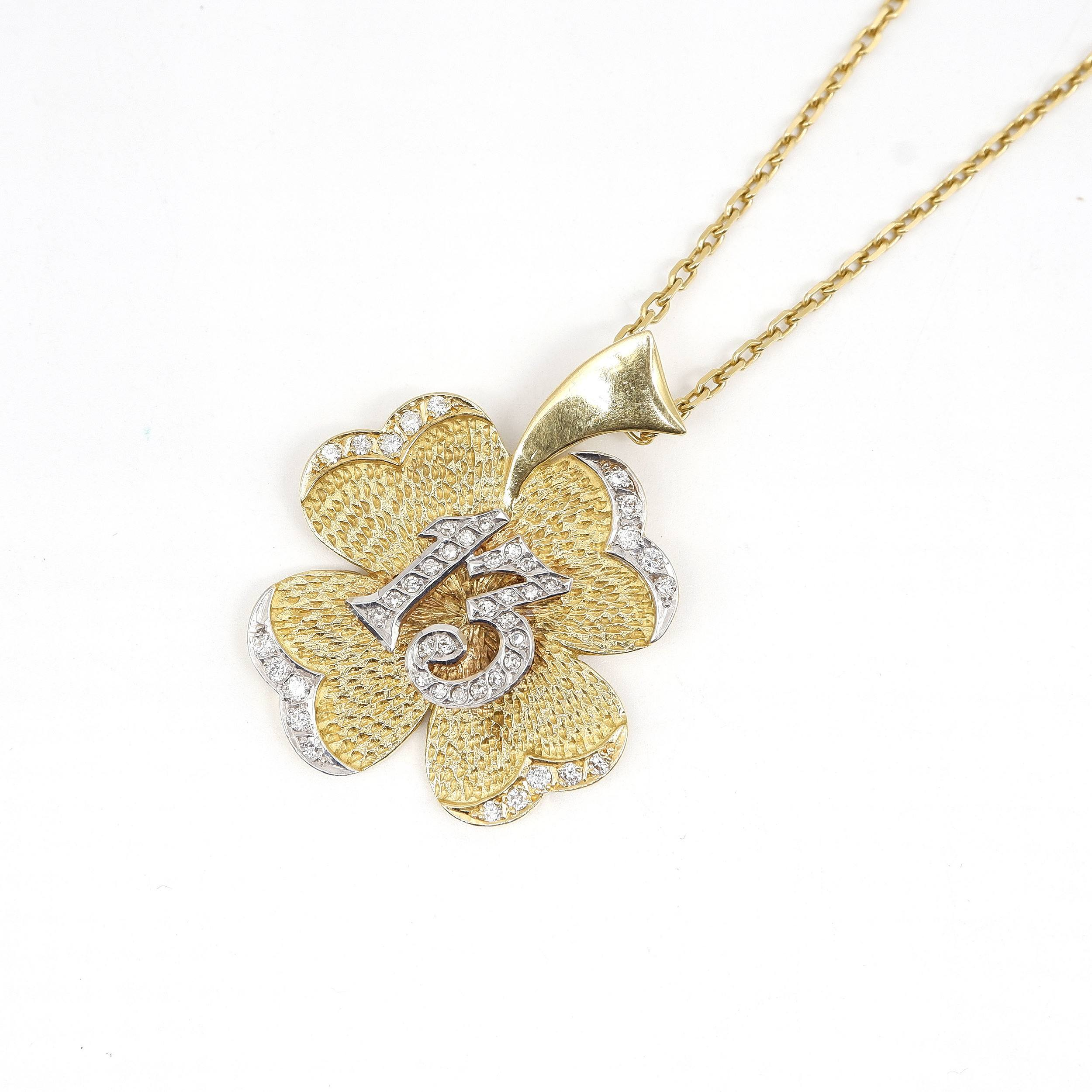 '18ct Yellow Gold Chain and Pendant, 26.8g'