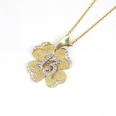 18ct Yellow Gold Chain and Pendant, 26.8g