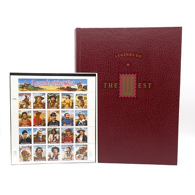 Legends of the West Reference Book and Stamp Set