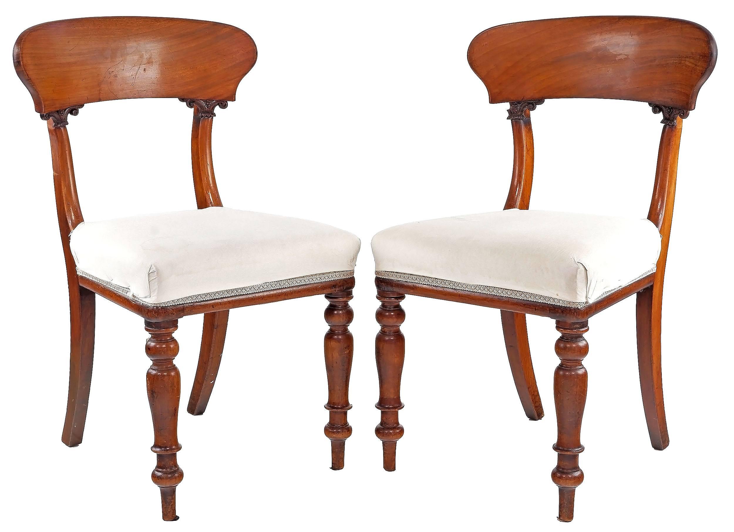 'Set of Six William IV Mahogany Dining Chairs Circa 1835'