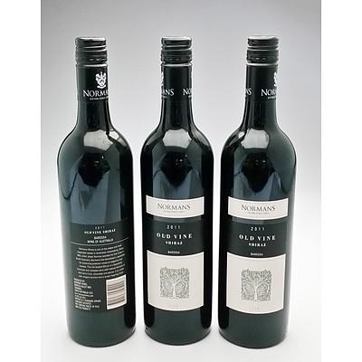 Normans 2011 Old Vine Shiraz Lot of 3 Bottles