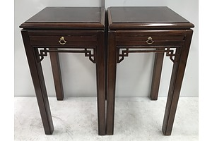 Pair Of Drexel Heritage Side Tables