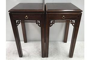 Pair Of Drexel Heritage Side Tables