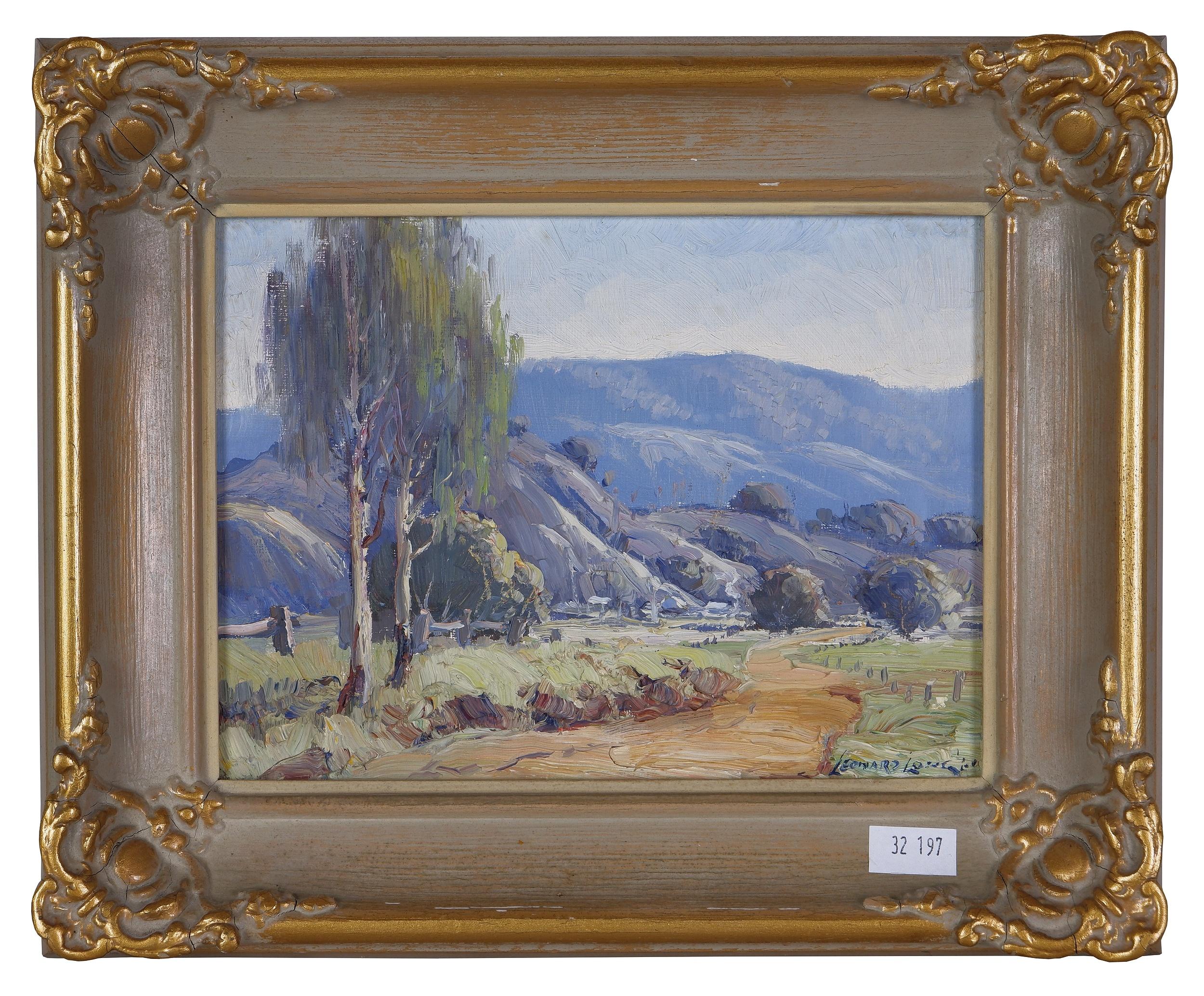 'Leonard Long (1911-2013) To the Farm - Kangaroo Valley, Oil on Board'