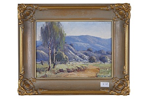 Leonard Long (1911-2013) To the Farm - Kangaroo Valley, Oil on Board