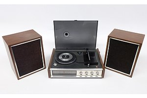 National Radio-Phonograph Model SG-548G with Two National Speakers