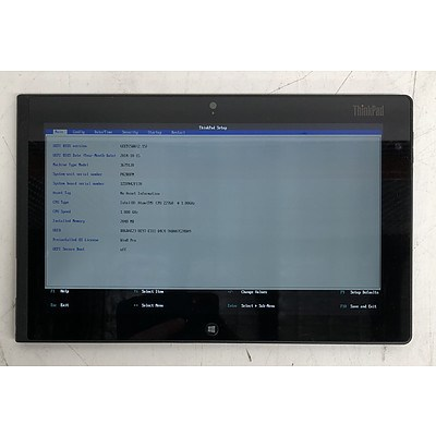 Lenovo ThinkPad Tablet Series 10-Inch Intel ATOM (Z2760) 1.80GHz CPU Tablet