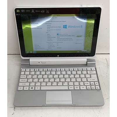 Acer Iconia W510 10-Inch Intel ATOM (Z2760) 1.80GHz CPU 2-in-1 Detachable Tablet Computer