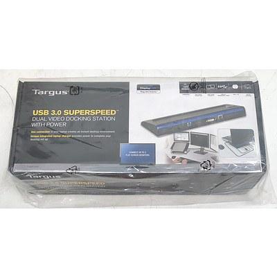 Targus USB 3.0 SuperSpeed Dual Video Docking Station w/ Power *Brand New