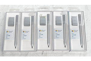 Microsoft Surface 1710 Silver Pen - Lot of Five *Brand New