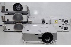 Assorted NEC XGA LCD Projectors - Lot of Eight