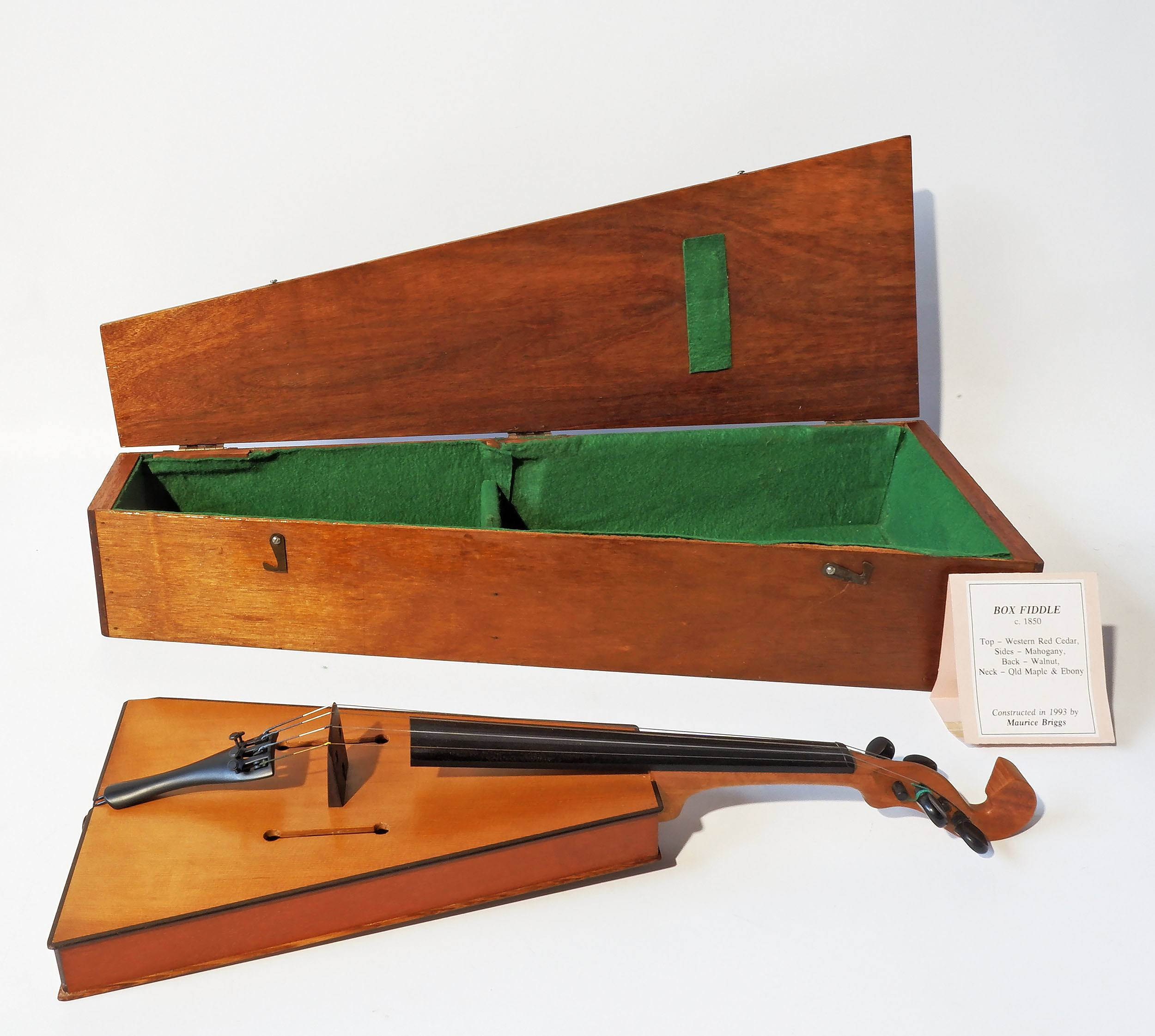 'Slim Dusty Autographed Bespoke Box Fiddle By Luthier Maurice Briggs (b.1930) Brisbane 1993'