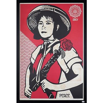 Shepard Fairey (born 1970, American), Obey - Peace, Screenprint