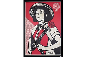 Shepard Fairey (born 1970, American), Obey - Peace, Screenprint