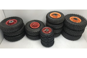 Lot Of Small Wheels and Tyres