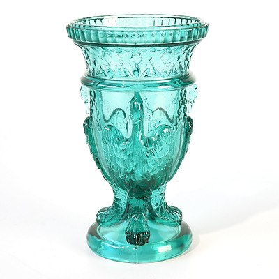 Victorian Pressed Glass 'Gryphon' Vase  by Edward Moore