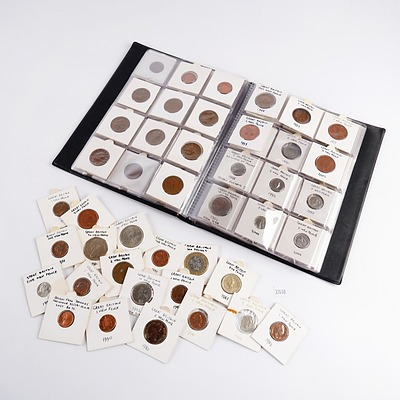 Substantial Great Britain Coin Album, New Pence, From Half Pence to Two Pounds, 1971-1999
