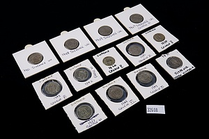 Twelve British Sixpence, Various Dates 1871-1951