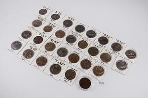 29 Edward VII British Pennies, Various Dates 1902-1911