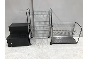 Shoe Rack and Other Storage Shelves -Lot Of Three