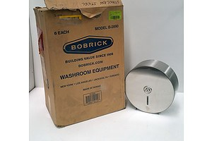 Bobrick Stainless Steel Jumbo Toilet Roll Holder Lot Of 8  - Brand New - RRP $150.00each