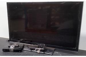 Panasonic Viera 97 cm LED TV and Sony Blu-Ray DVD Player