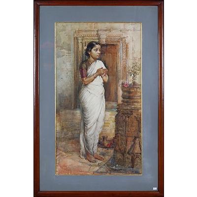Antonio Xavier Trindade (India 1870-1935) Hindu Bride 1916, Watercolour