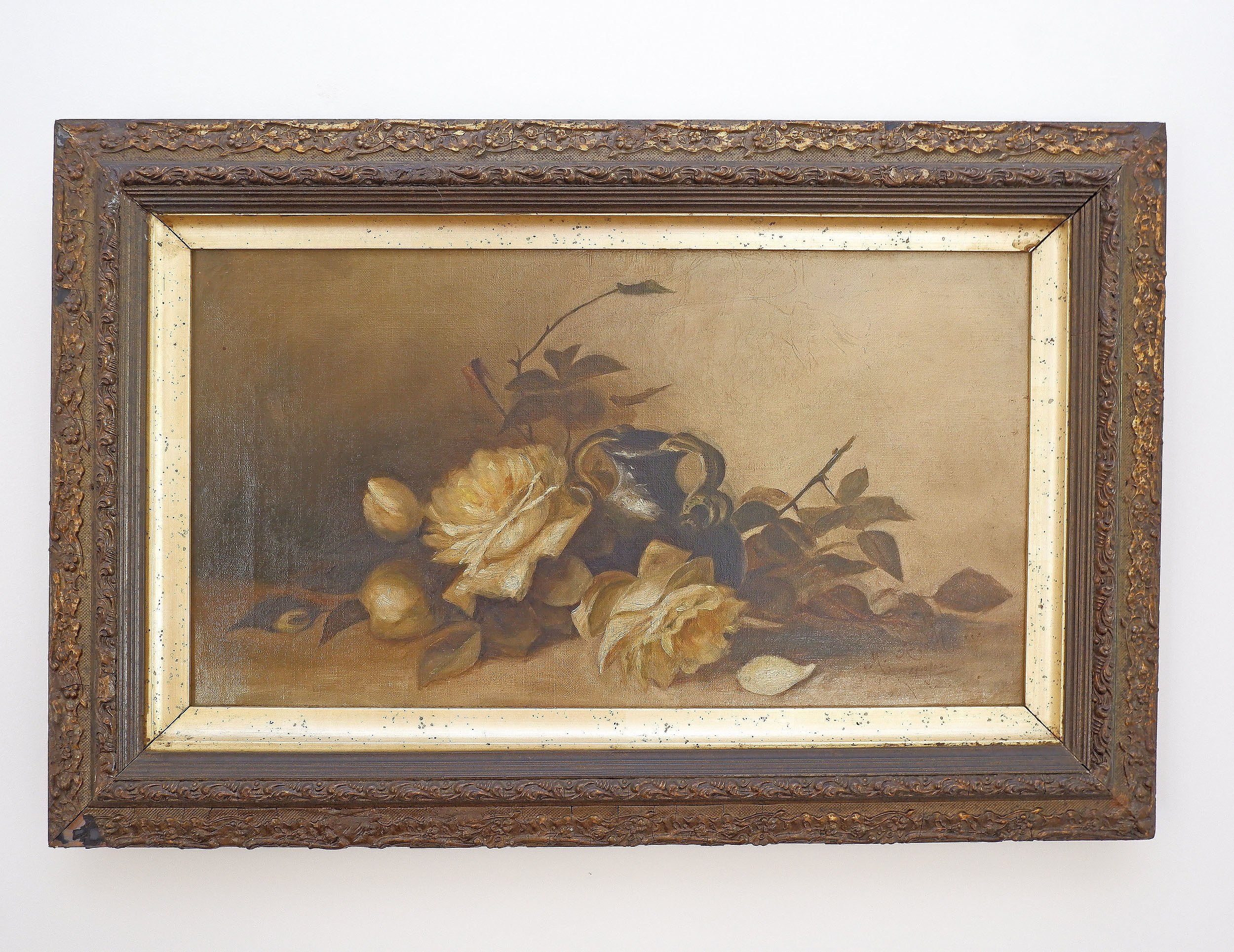 'M.A. Morris (Early 20th Century), Still Life With Roses 1902, Oil on Canvas'