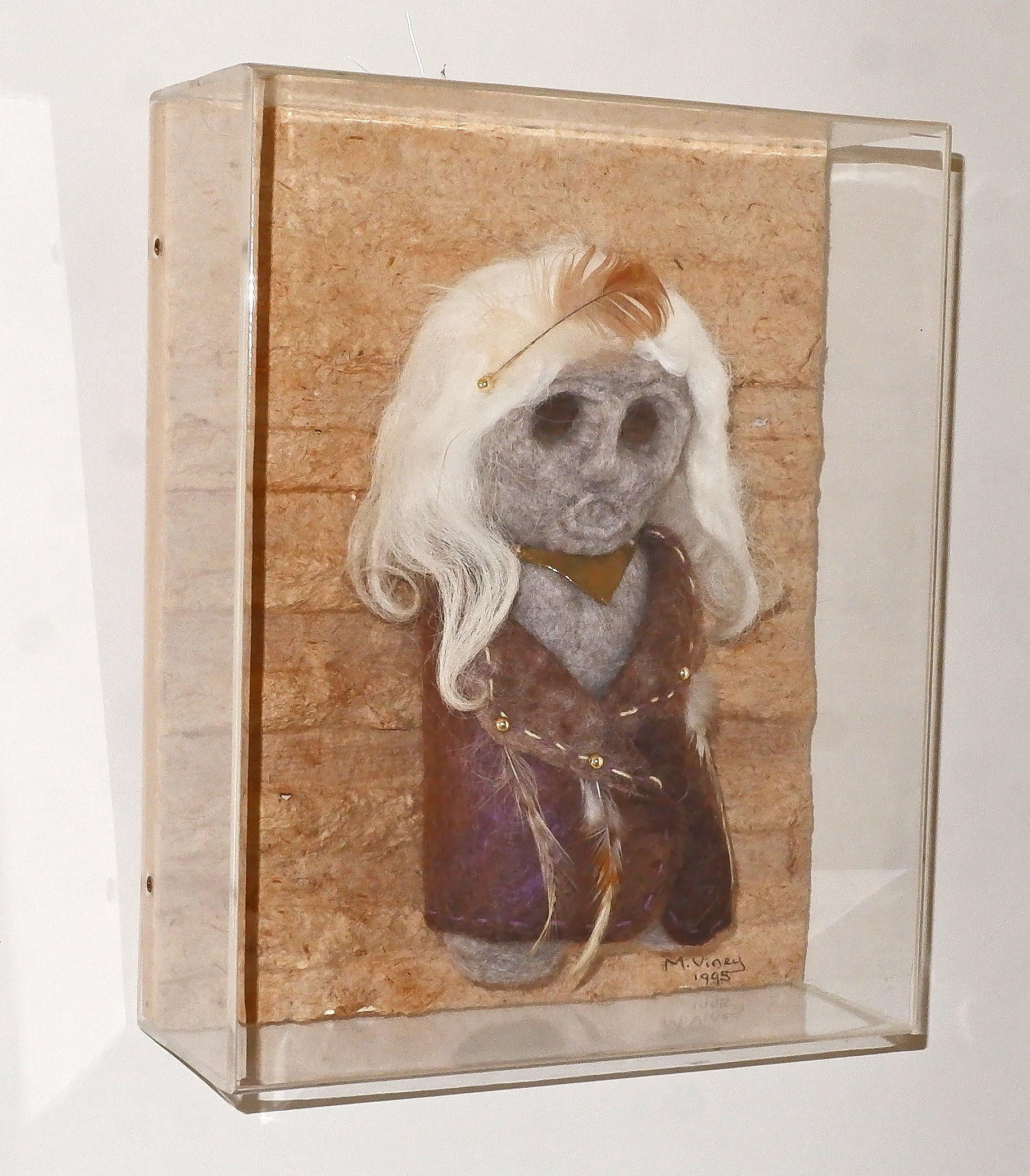'Margie Viney (20th Century), Shamans Daughter 1995, Felted Wool and Feathers'