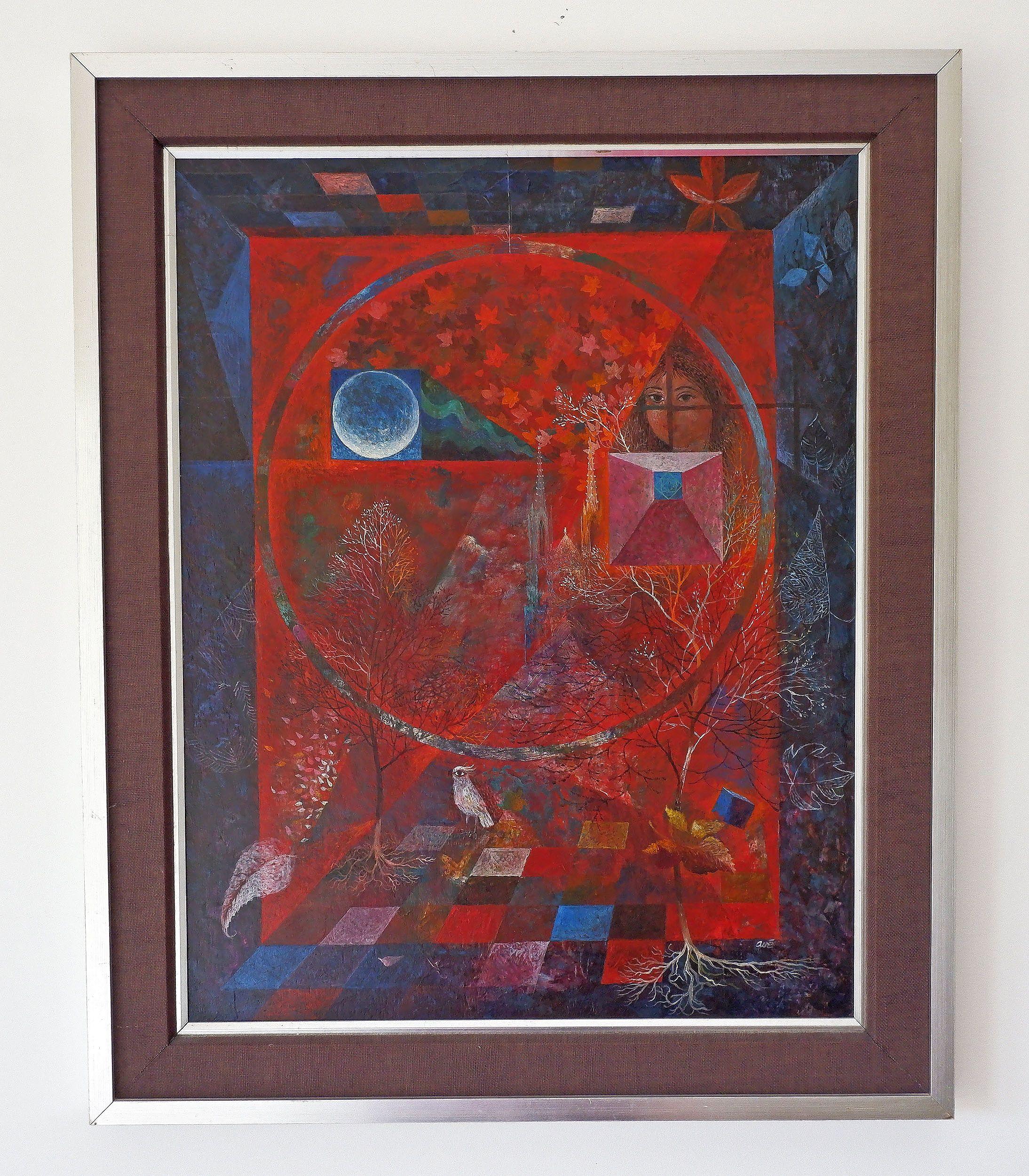 'Aart Van Ewijk (1912-1992), The Four Seasons, Oil on Board'