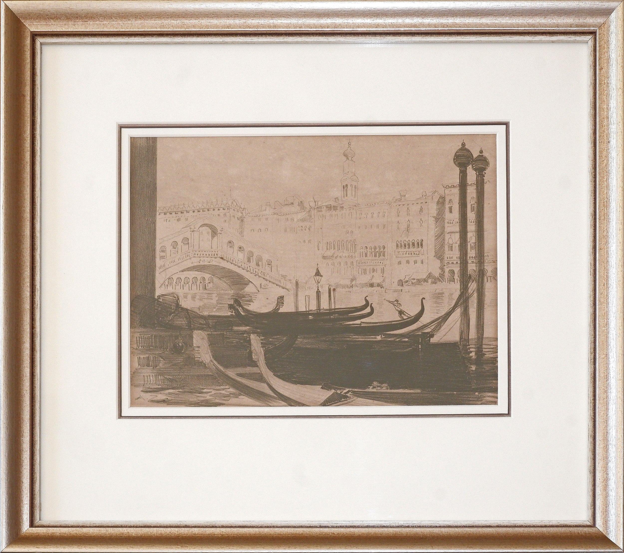 'Arthur Streeton (1867-1943), The Rialto 1912, Lithograph'
