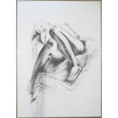 Jan Brown (born 1951), Life Drawing - Mid-1980s, Charcoal on Paper