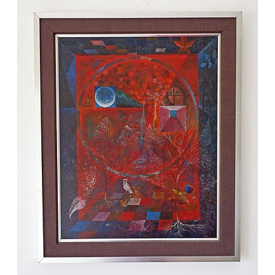 Aart Van Ewijk (1912-1992), The Four Seasons, Oil on Board