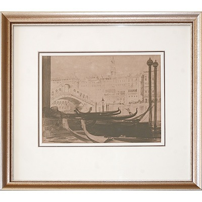 Arthur Streeton (1867-1943), The Rialto 1912, Lithograph