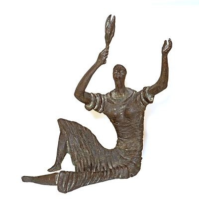 Alan Ingham (1920-1994 New Zealand, Australia), Botany (Figure with Olive Branch), Bronze, Edition 2/6