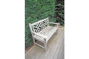 A Teak Two-Seater Garden Seat